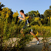 Teutopolis' Lucas Probst races to the finish line amongst a sea of goldenrod at Ballard Nature Center. Probst finished first with a time of 17:37.