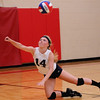 South Central's Monica Young digs the volleyball out during the Altamont Invitational.