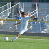 St. Anthony's Benton Hakman prepares to take a shot during the Bulldogs' 5-0 win against Salem. Hakman had a hat trick.