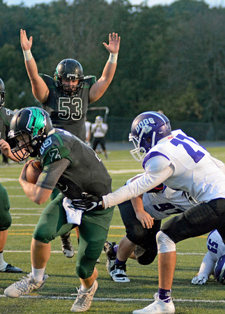 Andrew Broecker runs this up the middle for a touchdown.