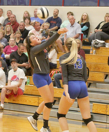Brooke Cummins passes the ball to a teammate on Thursday night.