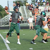 Quarterback Blake Levy throws a pass in the win over Brebeuf.