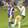 Photo by Debbie Beigh | For the Times Sentinel<br /> <br /> Zionsville's Natalie Hummer works her way past a Brownsburg defender on Wednesday night.
