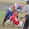 Garrett Miller runs through a Southmont tackler to convert a fourth down on Saturday.
