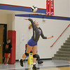 Western Boone's Emma Rolf serves against Frankfort on Thursday night. Rolf had three of the Stars' 13 aces.