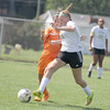 Kirsten Byrd gets past a Hamilton Heights defender in the first half on Saturday.