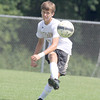 Walker Robertson clears the ball for Lebanon against Heritage Christian on Saturday.