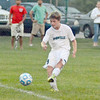 The Eagles Jack Sansone takes a shot against Westfield on Aug. 30. Sansone scored four goals in five games last week.