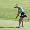 Abby Thielbar putts on the ninth green Saturday, Sept. 17 at the Brownsburg Sectional.