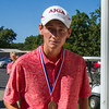 Effingham's Callaway Smith poses with his Apollo Conference championship medal after repeating as champion in Charleston.