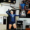 Windsor/Stew-Stras' Kasey Bean serves during a match at Altamont.