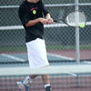9-27-12<br /> Tennis<br /> Nathan Gotshall plays 1 singles for Taylor during the tennis match against Northwestern on Thursday.<br /> KT photo | Kelly Lafferty