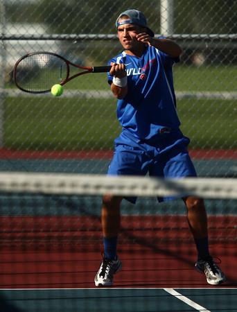 9-11-12<br /> Kokomo HS tennis<br /> Cody Shipley played 3 singles for Kokomo High School against Lafayette on Tuesday.<br /> KT photo | Kelly Lafferty