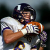 9-8-12<br /> Western HS vs Northwestern HS Football<br /> Northwestern's Trenton Brazel on a catch.<br /> KT photo | Tim Bath