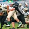 9-28-12 <br /> Western HS vs. Eastern HS football<br /> Eastern's Cree Johnston being taken down by Western's Austin Berndt in the first quarter.<br /> KT photo | Tim Bath