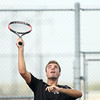 9-27-12<br /> Tennis<br /> Nick Braden plays 3 singles for Western during the tennis match against Tipton on Thursday.<br /> KT photo | Kelly Lafferty