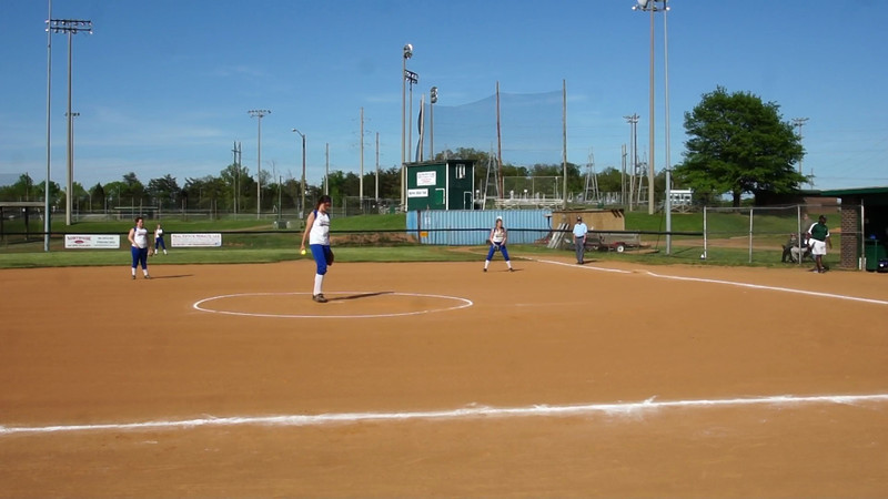 010 - Lexy pitches a foul ball strike
