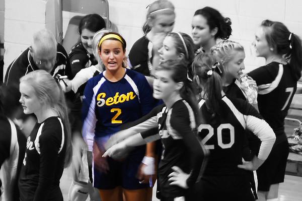 Seton Volleyball - 1st Game Aug 31, 2012