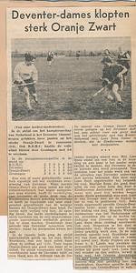 195804 Opmerking: artikel uit Deventer Dagblad van  ???? april 1958.   Collectie Dienske