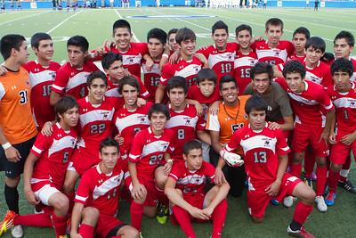 Winning team.