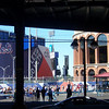 The 2 stadiums, Shea on the left, the new Citi Field on the right (opens 2009).
