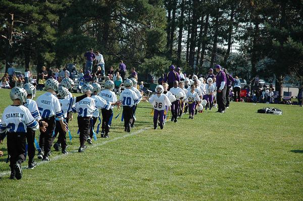 October 2nd, 2005: The 2005 Shelby Lions Football Club Flag team vs. the North Farmington/West Bloomfield Vikings at the Shelby Lions Football Club Field (Shelby 26, North Farmington/West Bloomfield 0).