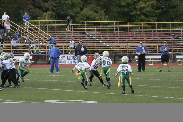 October 15th, 2005: The 2005 Shelby Lions Football Club Flag team vs. the Troy Cowboys at Troy Athens High School (Shelby 19 , Troy 0).