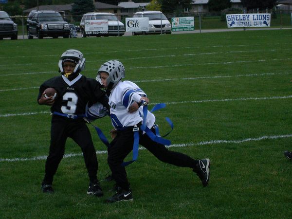 October 8th, 2005: The 2005 Shelby Lions Football Club Flag team vs. the Hazel Park Raiders at the Shelby Lions Football Club Field (Shelby 13, Hazel Park 6).