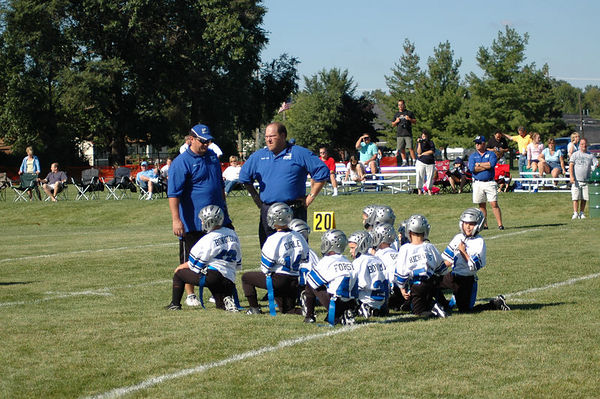 September 3rd, 2005: The 2005 Shelby Lions Football Club Flag team vs. the Roseville Broncos at the Shelby Lions Football Club Field (Shelby 12, Roseville 0).