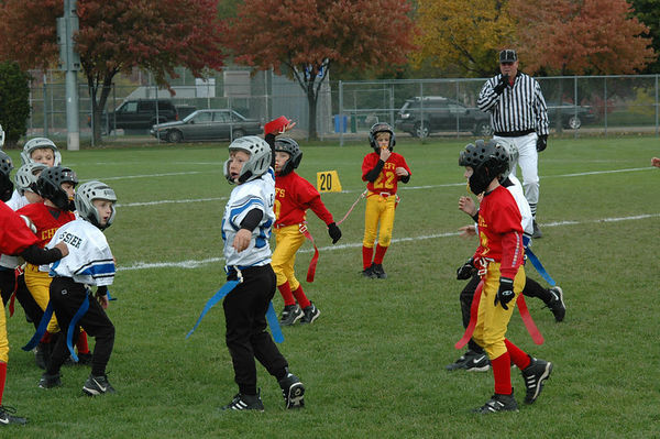 October 22nd, 2005: The 2005 Shelby Lions Football Club Flag team vs. the Royal Oak Chiefs at Royal Oak Memorial Park (Royal Oak 12, Shelby 0).
