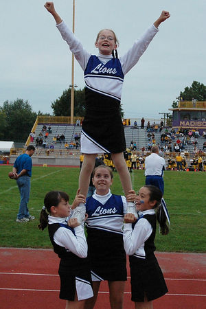 The 2005 Shelby Lions Football Club JV Cheer Squad
