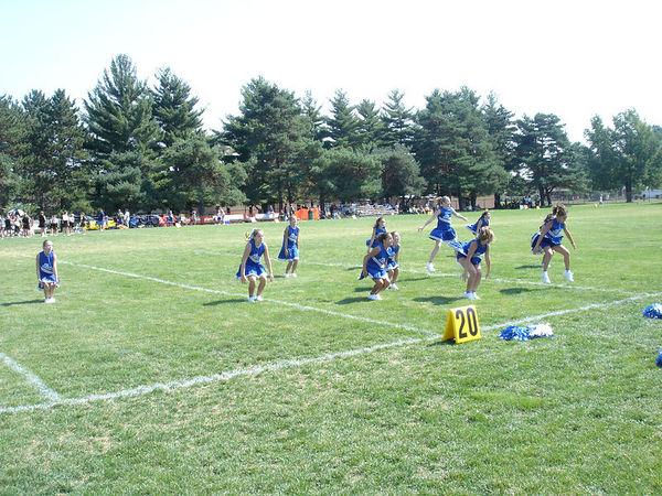The 2005 Shelby Lions Football Club JV Cheer Squad