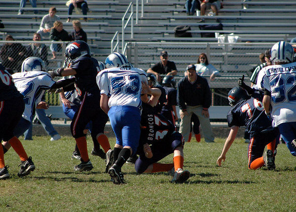 Game #7 - October 7, 2006: The 2006 Shelby Lions Football Club JV Team vs. the Roseville Broncos at Roseville High School (Shelby 32, Roseville 0).