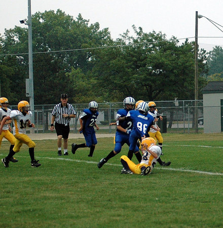 Game #1 - August 26, 2006: The 2006 Shelby Lions Football Club JV team vs. the Royal Oak Chargers at Royal Oak Memorial Park (Shelby 41, Royal Oak 6).
