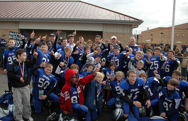 Superbowl - November 5, 2006: The 2006 Shelby Lions Football Club JV Team vs. the North Farmington/West Bloomfield Vikings at Hazel Park High School (Shelby 27, NFWB 7).