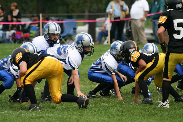 Game #5 - September 23, 2006: The 2006 Shelby Lions Football Club JV Team vs. the Berkley Steelers at Shelby Lions Home Field (Shelby 32, Berkley 0).