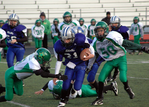 Playoffs - October 28, 2006: The 2006 Shelby Lions Football Club JV Team vs. the Troy Cowboys at Hurley Field  (Shelby 37, Troy 0).