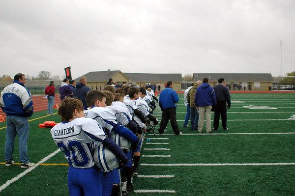 Game #9 - October 21, 2006: The 2006 Shelby Lions Football Club JV Team vs. the North Farmington/West Bloomfield Vikings at Farmington High School Field (Shelby 21, NFWB 0).