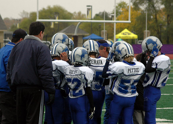 Game #9 - October 21, 2006: The 2006 Shelby Lions Football Club JV Team vs. the North Farmington/West Bloomfield Vikings at Farmington High School Field (Shelby 21, NFWB 0).