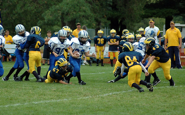 Game #2 - September 2, 2006: The 2006 Shelby Lions Football Club JV Team vs. the Madison Heights Wolverines at Shelby Lions Home Field (Shelby 36, Madison Heights 0).