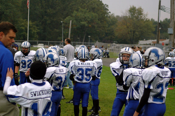 Game #6 - September 30, 2006: The 2006 Shelby Lions Football Club JV Team vs. the Clawson Mavericks at Clawson Park (Shelby 33, Clawson 0).