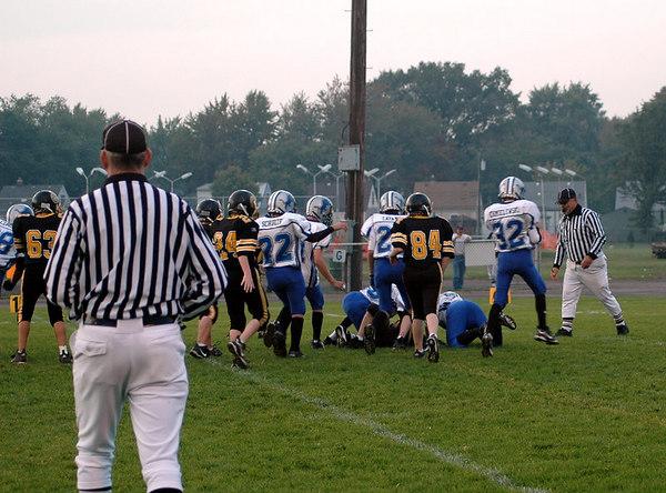 Game #6 - September 30, 2006: The 2006 Shelby Lions Football Club JV Team vs. the Clawson Mavericks at Clawson Park (Shelby 33, Clawson 0).