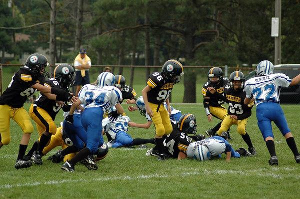 Game #5 - September 23, 2006: The 2006 Shelby Lions Football Club JV Team vs. the Berkley Steelers at Shelby Lions Home Field (Shelby 32, Berkley 0).