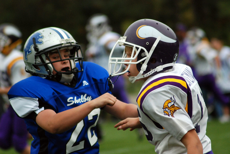 Game #8 - October 14, 2007: The 2007 Shelby Lions Football Club Varsity Team vs. the North Farmington West Bloomfield Vikings at Shelby Lions Home Field (Shelby 0, Vikings 16).