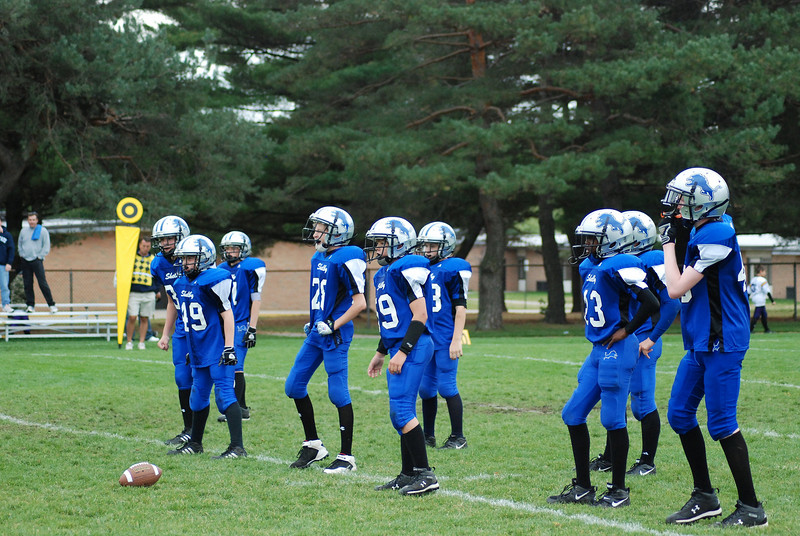 Game #8 - October 14, 2007: The 2007 Shelby Lions Football Club Varsity Team vs. the North Farmington West Bloomfield Vikings at Shelby Lions Home Field (Shelby 0, Vikings 16).