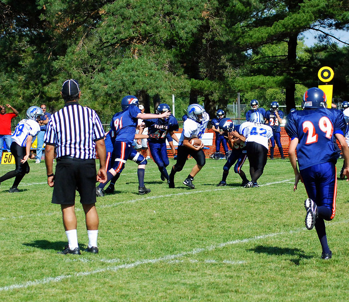 Game #2 - September 1, 2007: The 2007 Shelby Lions Football Club Varsity Team vs. the Roseville Broncos at Shelby Lions Home Field (Shelby 16, Roseville 8).
