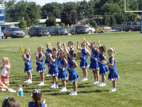 The 2005 Shelby Lions Football Club Flag Cheer Squad