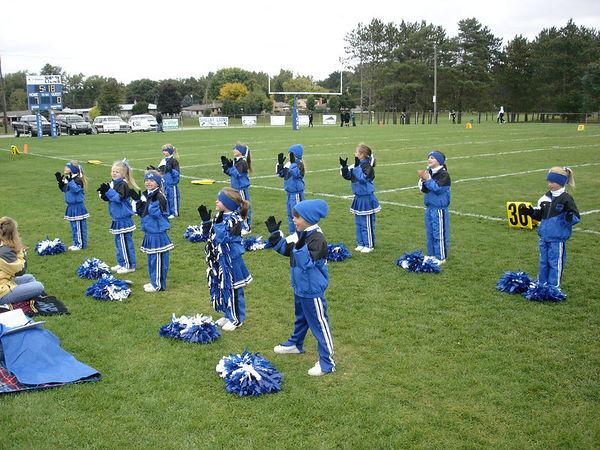 The 2005 Shelby Lions Football Club Flag Cheer Squad