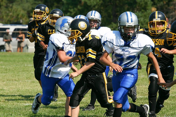 September 11th, 2005: The 2005 Shelby Lions Football Club JV  team vs. the Clawson Mavericks at the Shelby Lions Football Club Field (Shelby 32, Clawson 0).