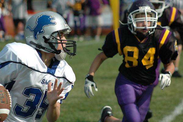 October 2nd, 2005: The 2005 Shelby Lions Football Club JV team vs. the North Farmington/West Bloomfield Vikings at the Shelby Lions Football Club Field (Shelby 14, North Farmington/West Bloomfield 0).